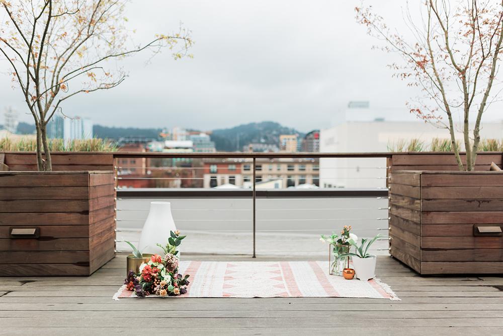 wedding ceremony - photo by Gina Neal Photography https://ruffledblog.com/portland-coffee-lovers-elopement-inspiration