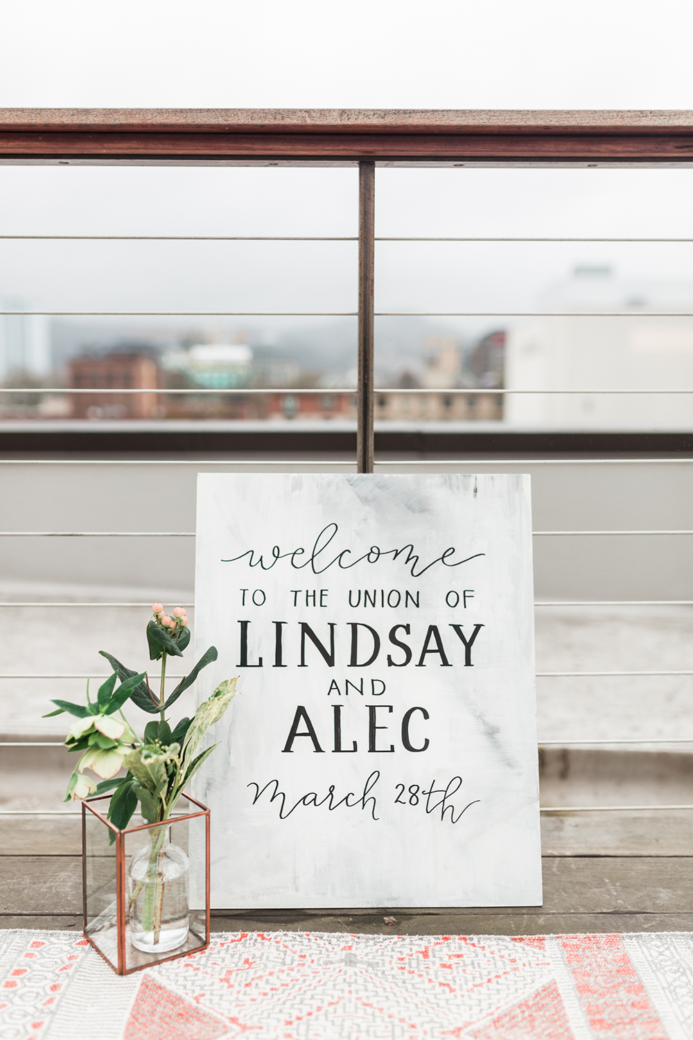 ceremony signs - photo by Gina Neal Photography https://ruffledblog.com/portland-coffee-lovers-elopement-inspiration