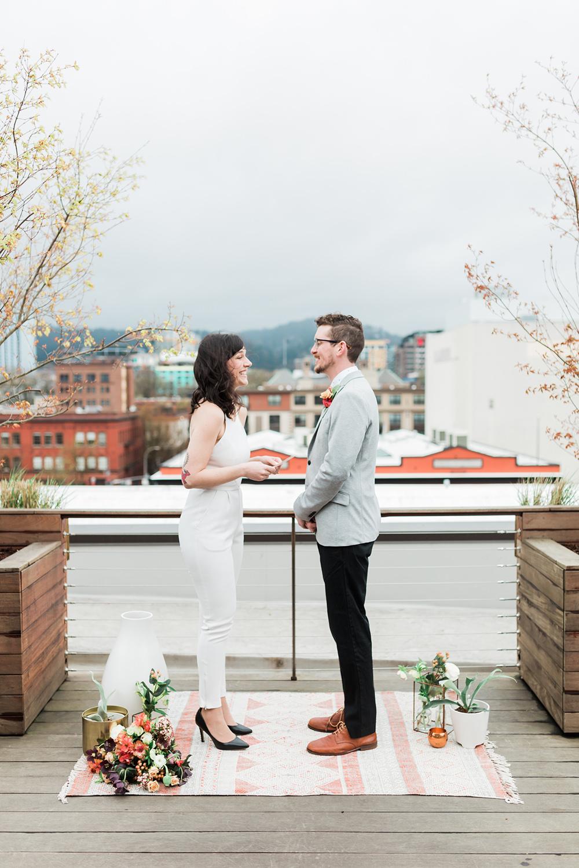 elopement ceremonies - photo by Gina Neal Photography https://ruffledblog.com/portland-coffee-lovers-elopement-inspiration