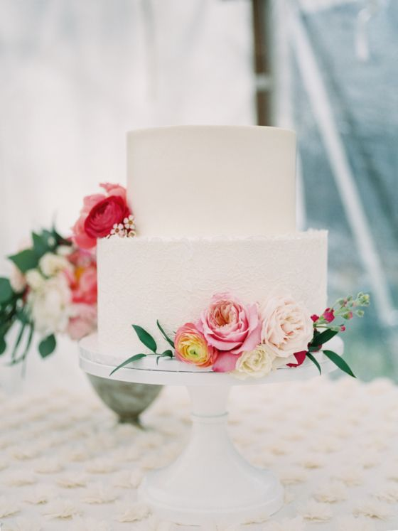Pretty Colorado Mountain Wedding with Lace and Peonies