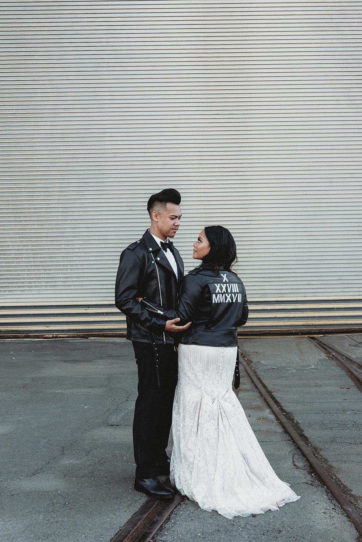 This Edgy Couple's Wedding is Totally On Fleek #edgybridalfashion #blackweddingdecor #modernweddingsignage