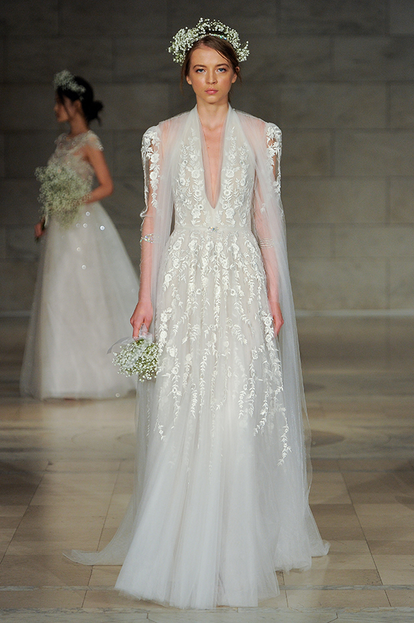 Reem Acra Fall 2018 wedding dresses