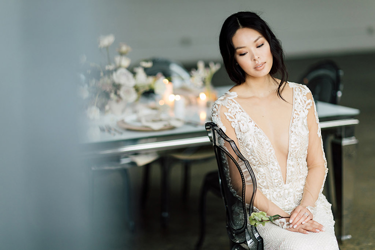 wedding style - photo by Purple Tree Photography http://ruffledblog.com/refined-wedding-ideas-with-a-monochrome-palette