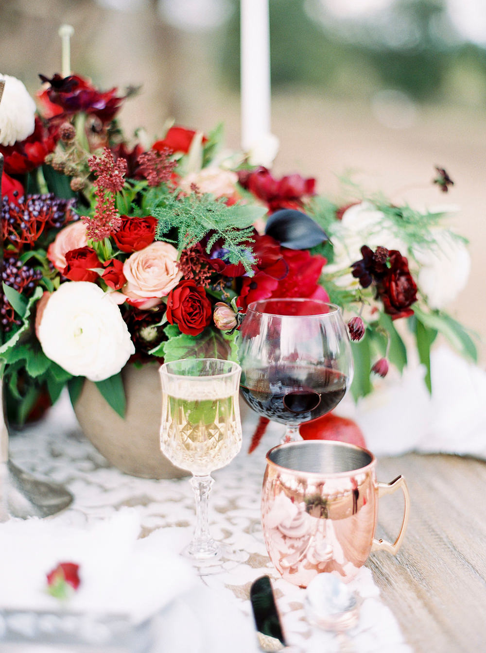 wedding tablescapes - photo by Amanda Lenhardt http://ruffledblog.com/relaxed-san-juan-capistrano-wedding-inspiration