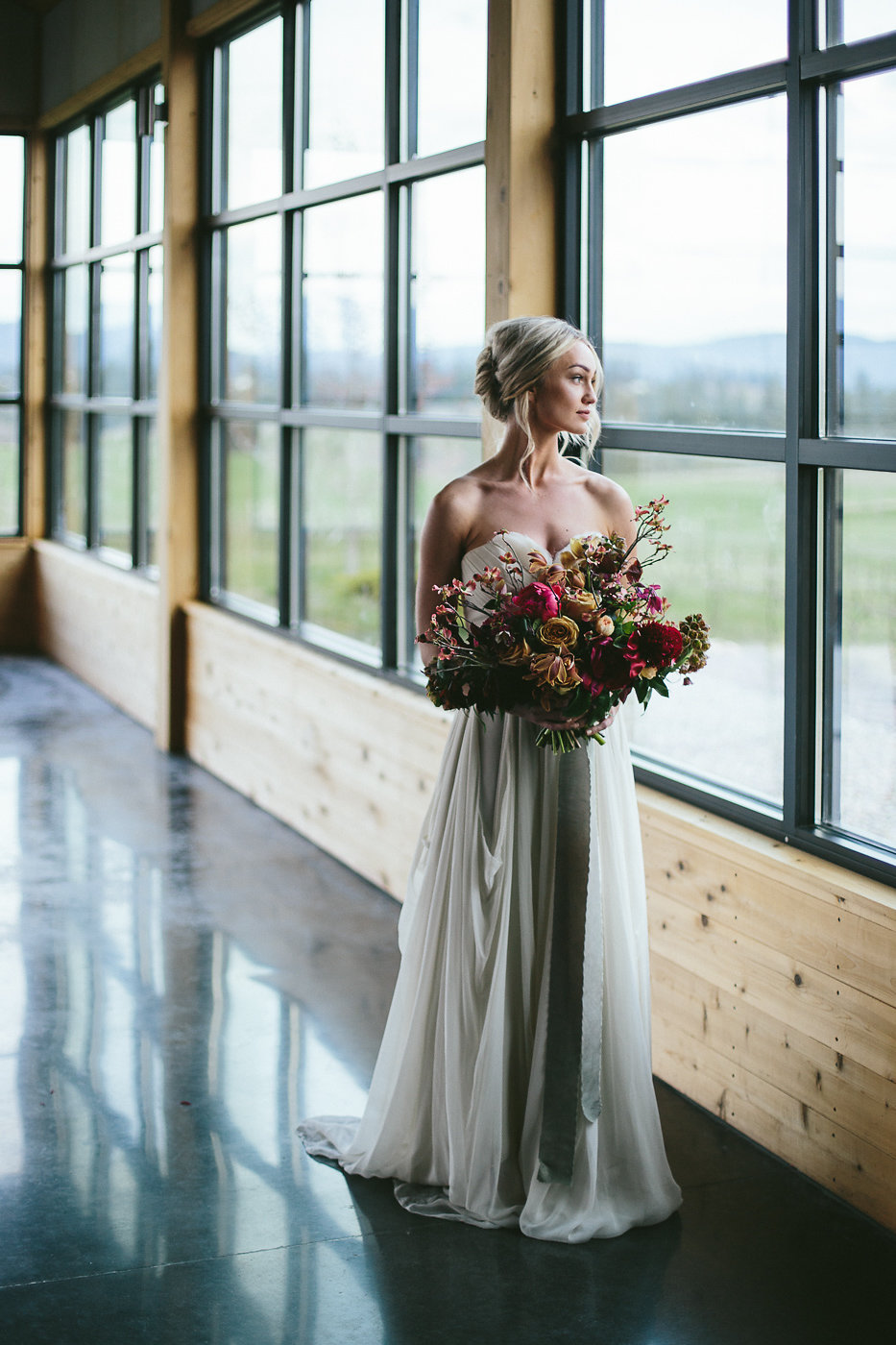 Rich Toned Industrial Wedding Inspiration - photo by Hannah Victoria Photography https://ruffledblog.com/rich-toned-industrial-wedding-inspiration