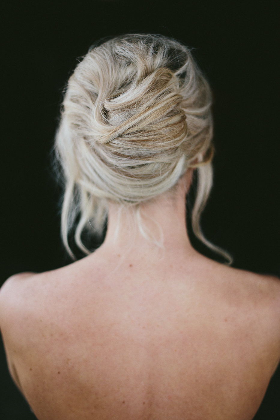 wedding hair - photo by Hannah Victoria Photography http://ruffledblog.com/rich-toned-industrial-wedding-inspiration