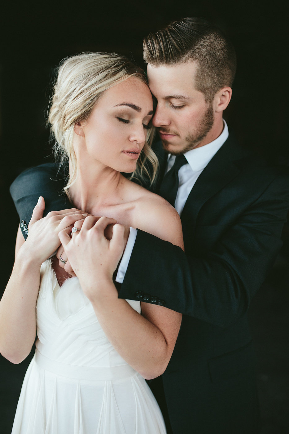 wedding photography - photo by Hannah Victoria Photography http://ruffledblog.com/rich-toned-industrial-wedding-inspiration