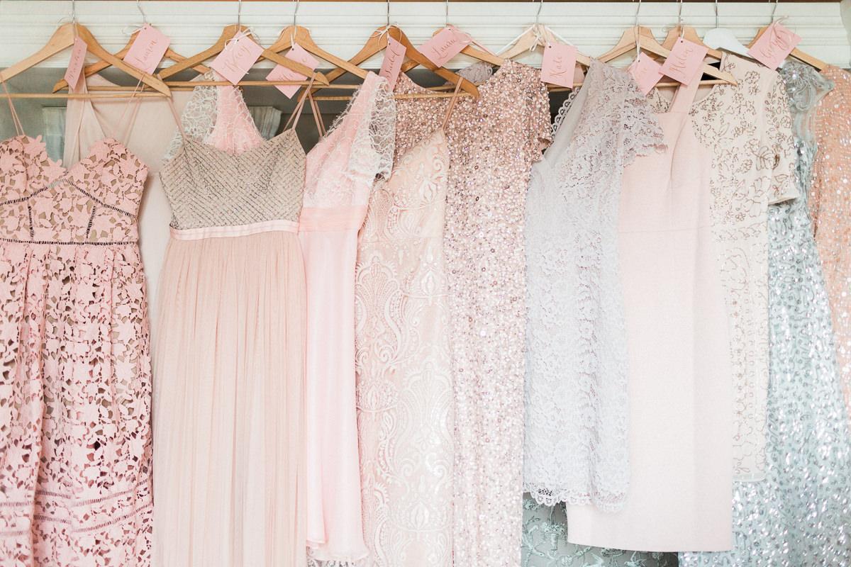 mismatched bridesmaid dresses - photo by Kylee Yee https://ruffledblog.com/romantic-al-fresco-wedding-in-tuscany