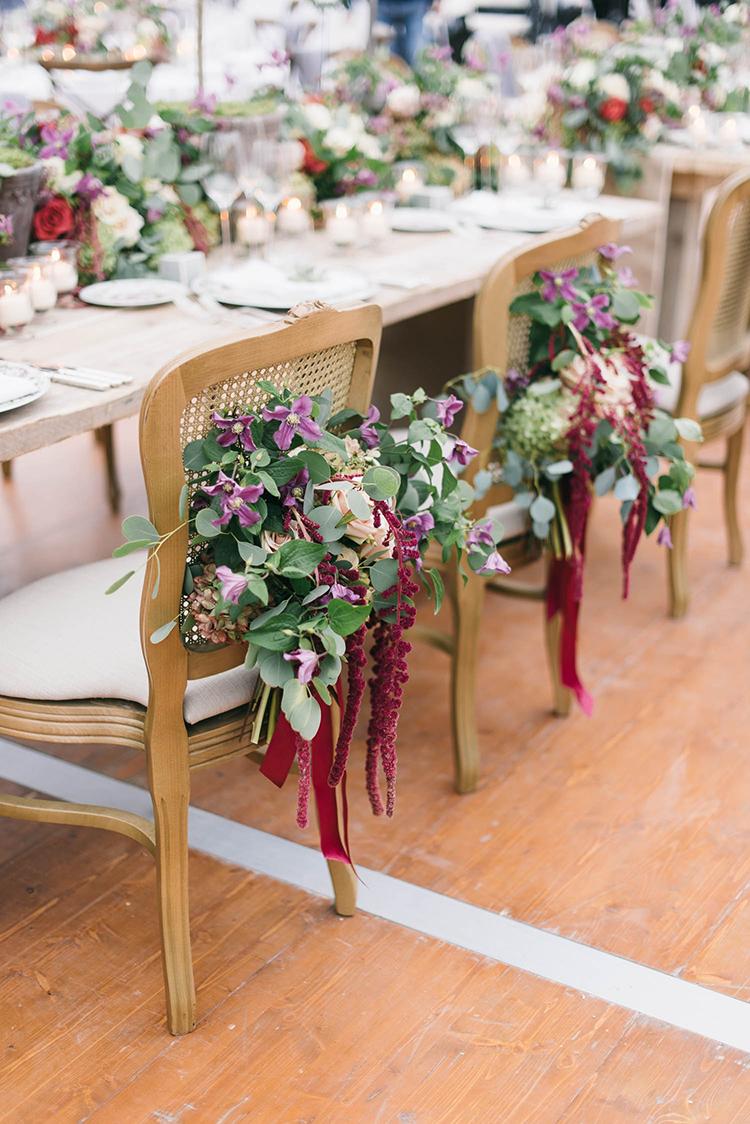 wedding chairs - photo by Lisa Poggi https://ruffledblog.com/romantic-black-tie-wedding-in-tuscany