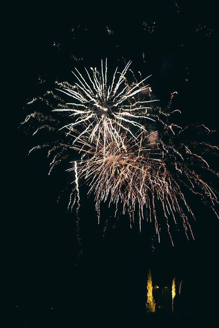 wedding fireworks - photo by Lisa Poggi http://ruffledblog.com/romantic-black-tie-wedding-in-tuscany