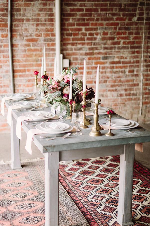 romantic industrial wedding - photo by FreeHope Photography https://ruffledblog.com/romantic-bohemian-wedding-ideas