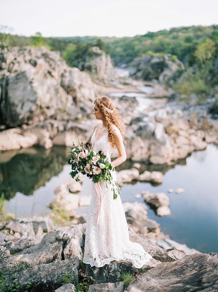 Romantic Bridal Inspiration in Great Falls, Virginia - photo by Photographs by Czar Goss http://ruffledblog.com/romantic-bridal-inspiration-in-great-falls-virginia