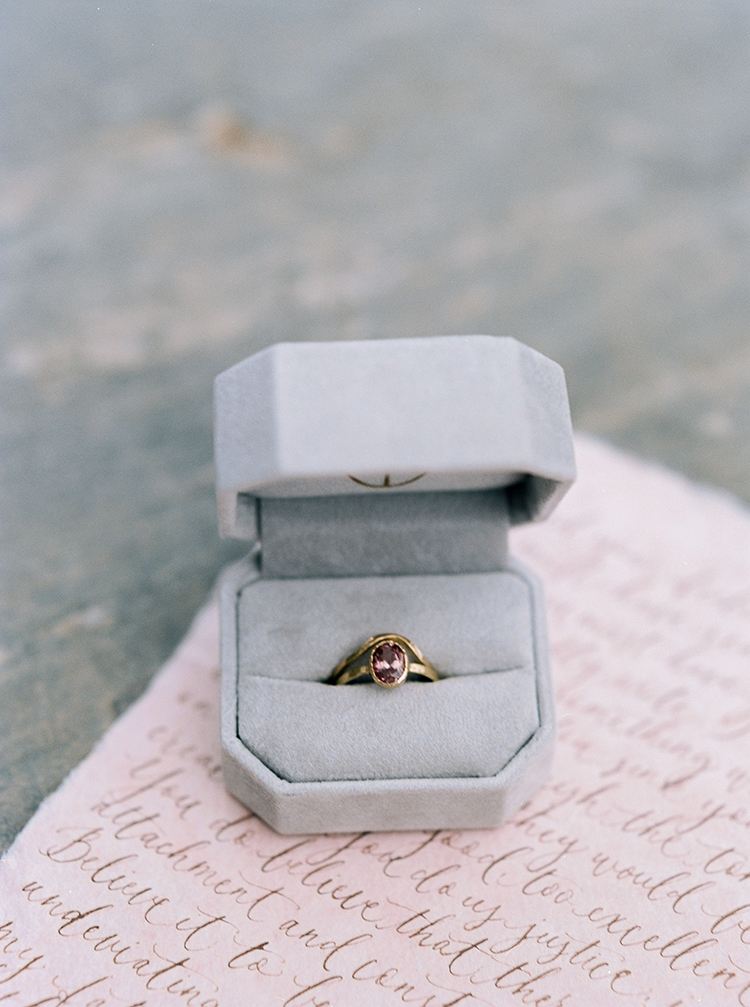 unique vintage inspired engagement rings - photo by Photographs by Czar Goss http://ruffledblog.com/romantic-bridal-inspiration-in-great-falls-virginia