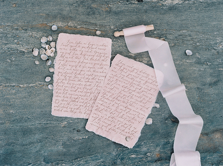wedding vows on antique paper - photo by Photographs by Czar Goss https://ruffledblog.com/romantic-bridal-inspiration-in-great-falls-virginia
