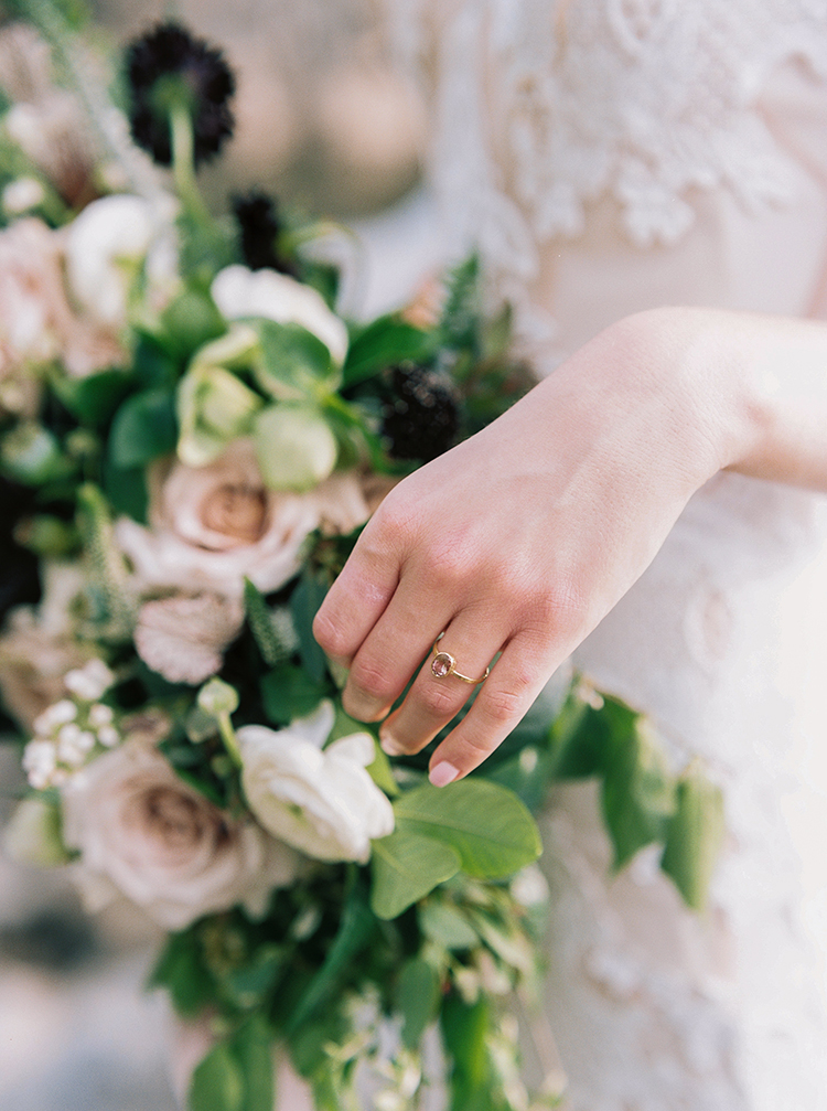 vintage inspired engagement rings - photo by Photographs by Czar Goss https://ruffledblog.com/romantic-bridal-inspiration-in-great-falls-virginia