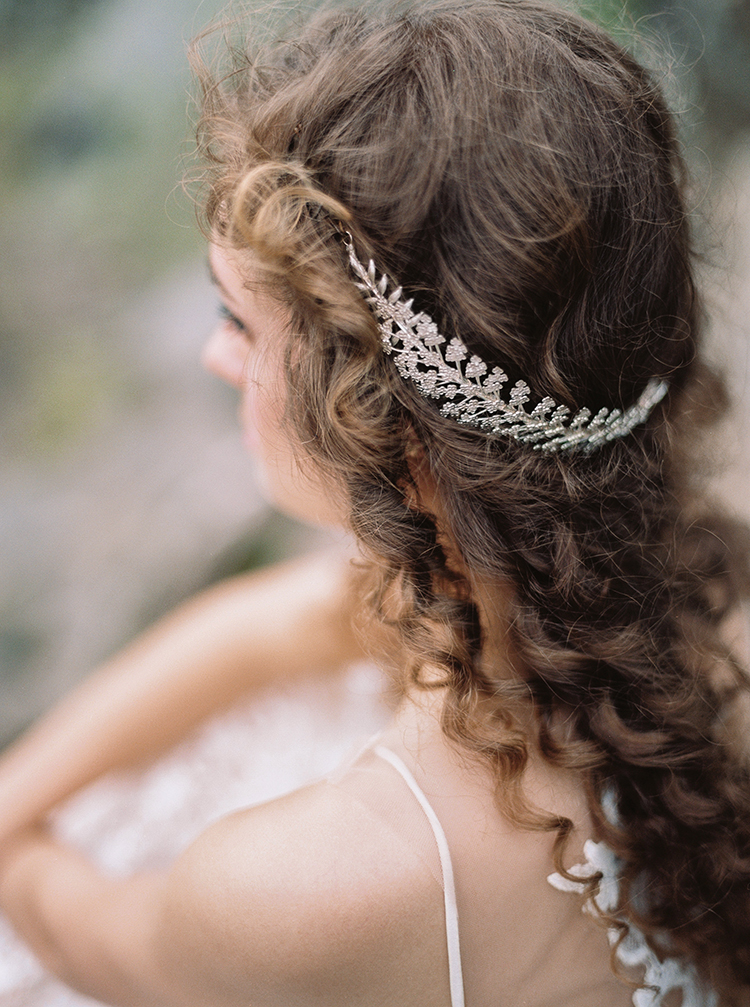 silver bridal hair accessories - photo by Photographs by Czar Goss https://ruffledblog.com/romantic-bridal-inspiration-in-great-falls-virginia