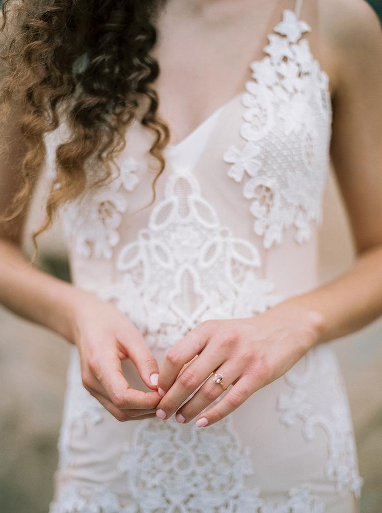 lace wedding dress details - photo by Photographs by Czar Goss http://ruffledblog.com/romantic-bridal-inspiration-in-great-falls-virginia