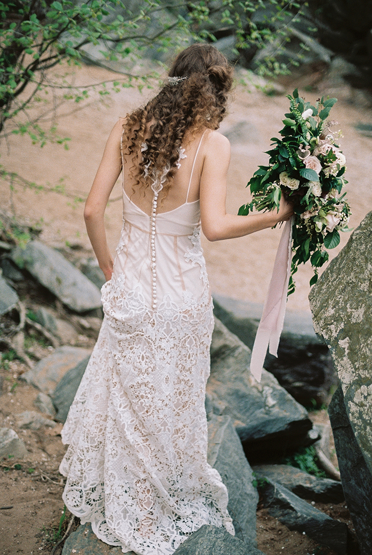 unique lace bridal gowns - photo by Photographs by Czar Goss https://ruffledblog.com/romantic-bridal-inspiration-in-great-falls-virginia