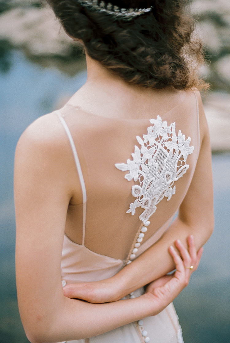 lace wedding gown embellishments - photo by Photographs by Czar Goss https://ruffledblog.com/romantic-bridal-inspiration-in-great-falls-virginia