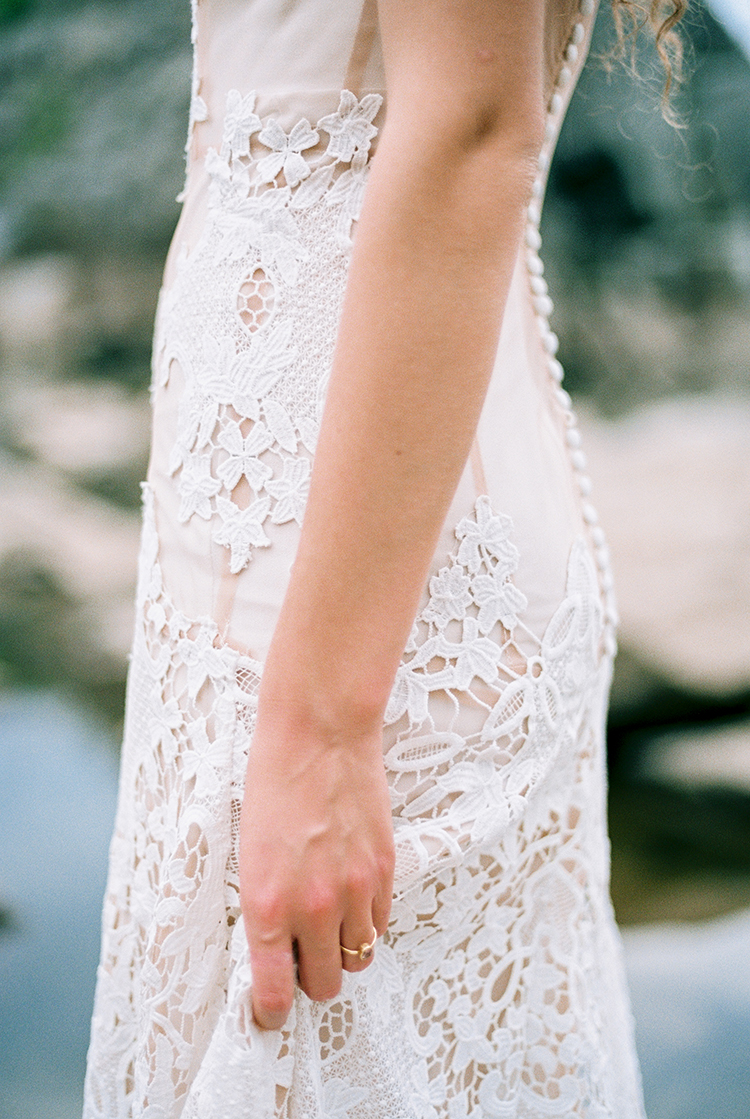 lace wedding gown detail - photo by Photographs by Czar Goss http://ruffledblog.com/romantic-bridal-inspiration-in-great-falls-virginia