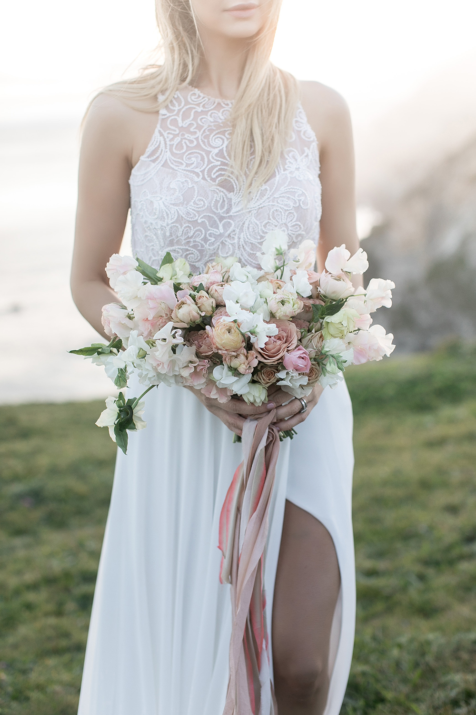 dusty bouquets - photo by Tyler Rye Photography https://ruffledblog.com/romantic-coastal-california-wedding-inspiration