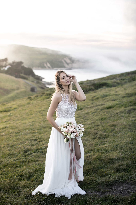 bridal fashion - photo by Tyler Rye Photography https://ruffledblog.com/romantic-coastal-california-wedding-inspiration