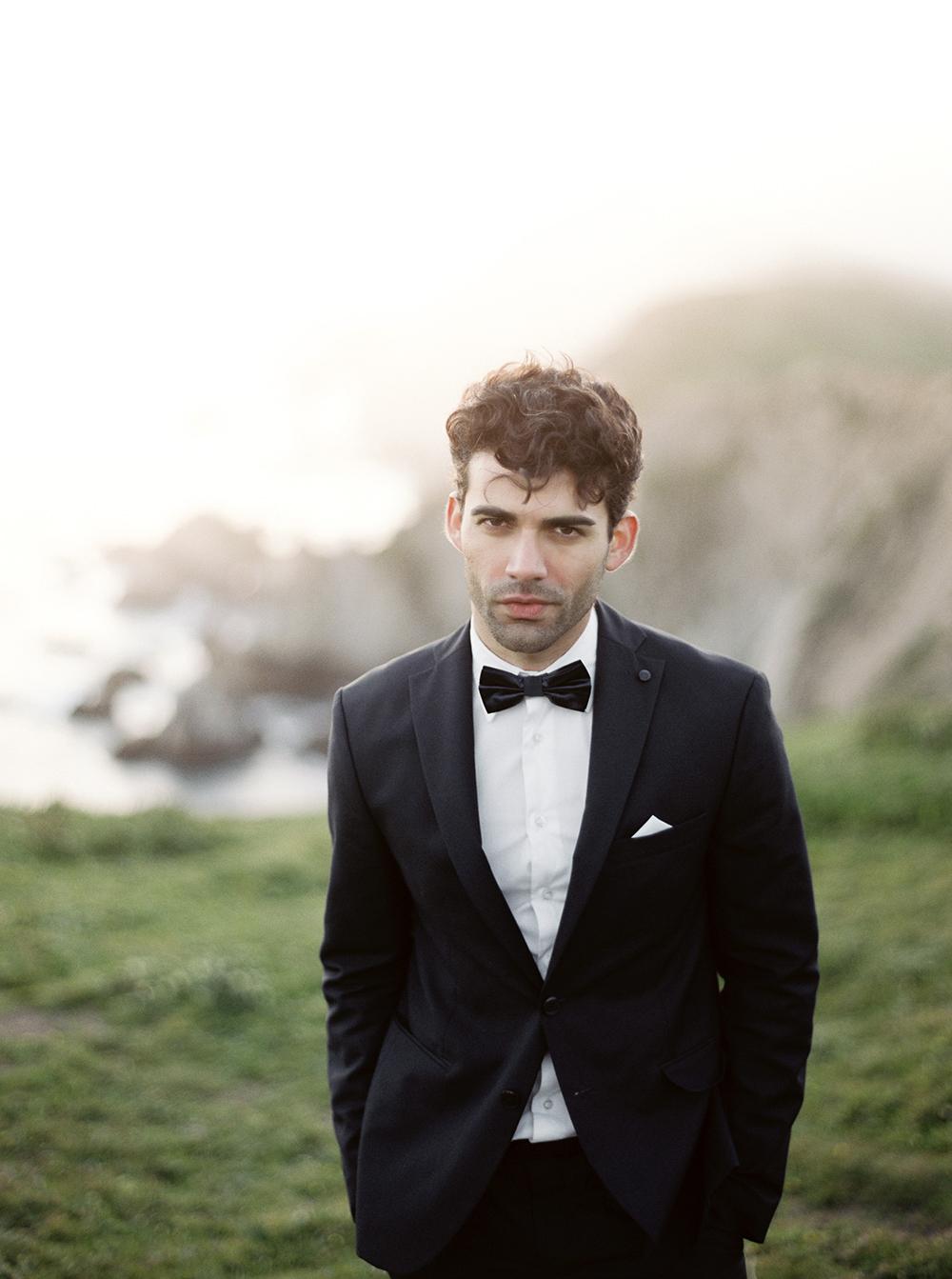 groom style - photo by Tyler Rye Photography https://ruffledblog.com/romantic-coastal-california-wedding-inspiration