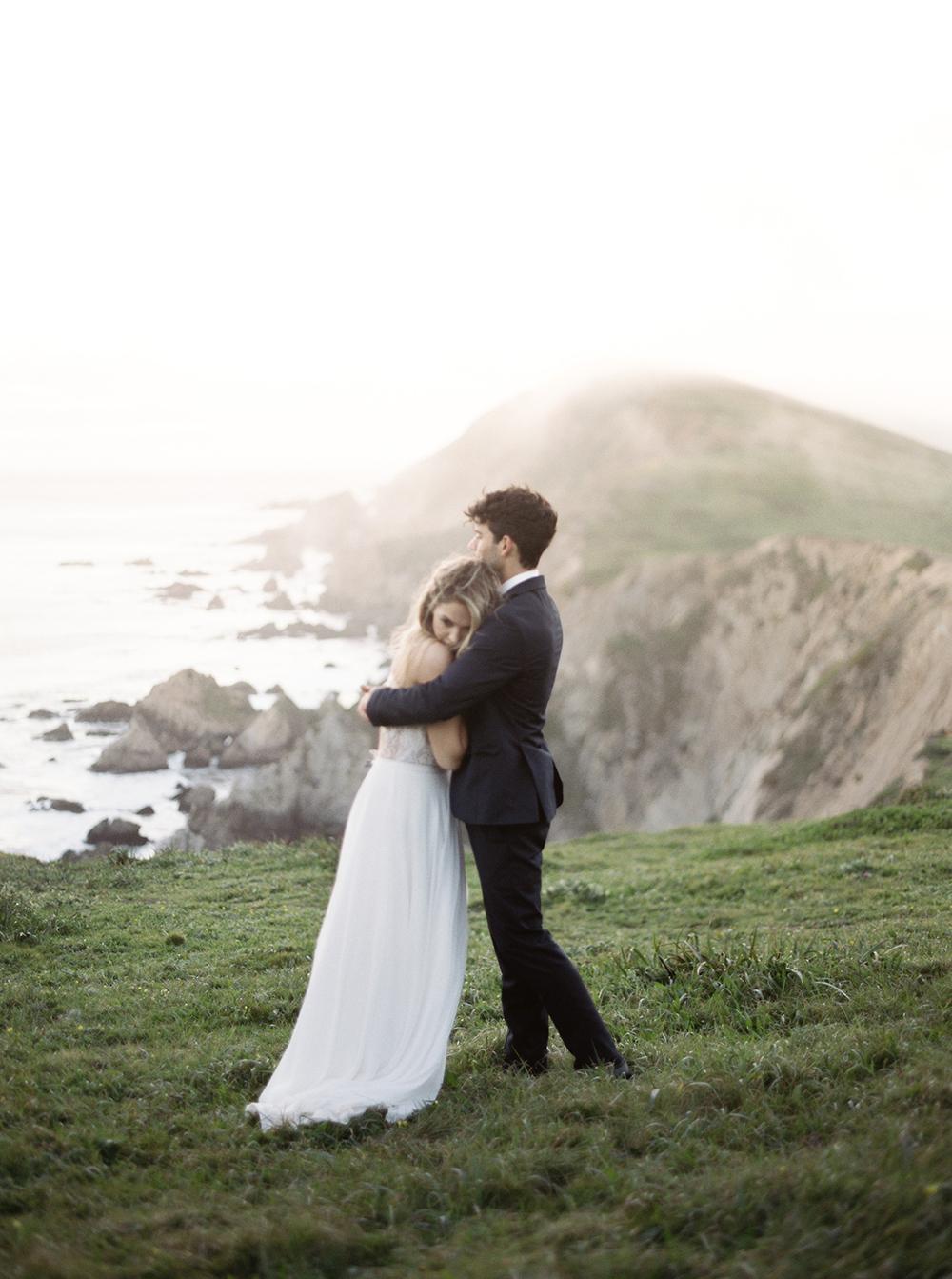 wedding portraits - photo by Tyler Rye Photography https://ruffledblog.com/romantic-coastal-california-wedding-inspiration