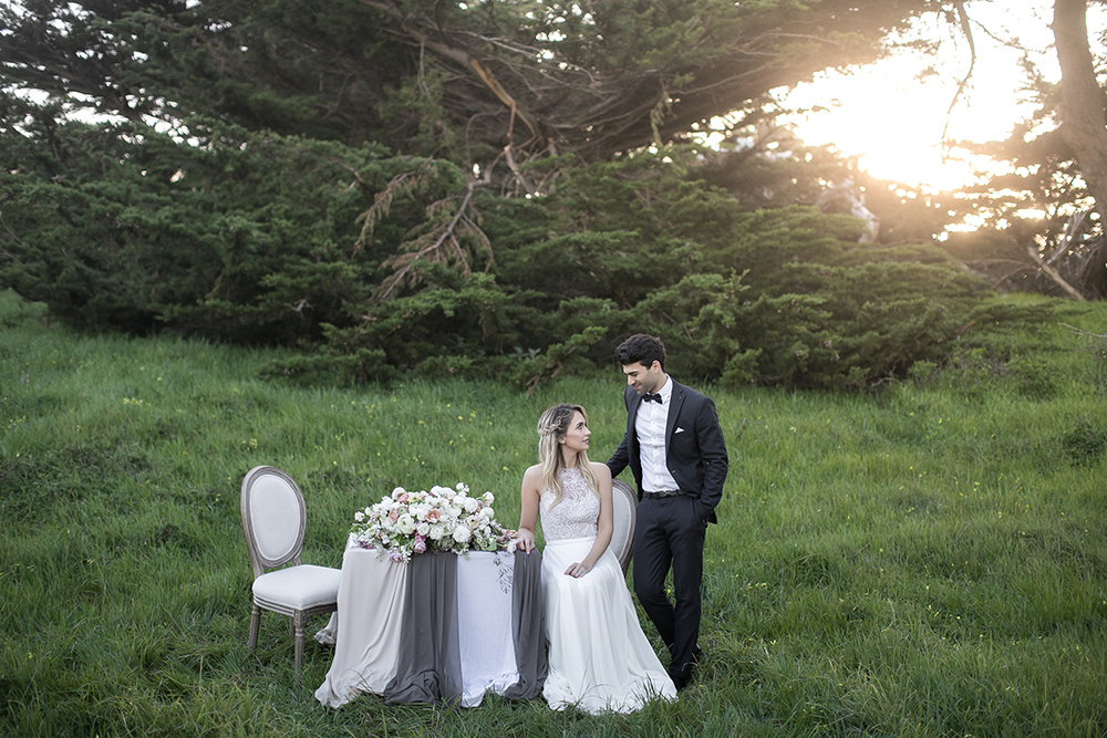 wedding tables - photo by Tyler Rye Photography https://ruffledblog.com/romantic-coastal-california-wedding-inspiration
