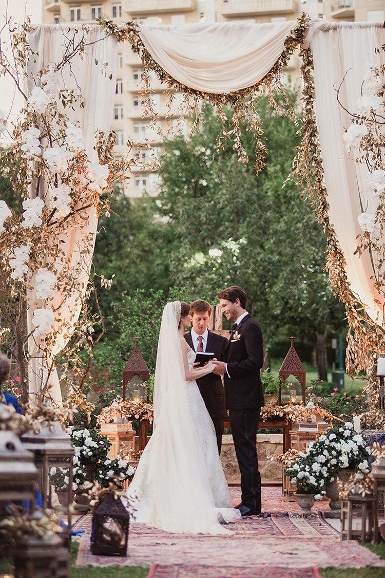 wedding ceremonies - photo by Shaun Menary Photography http://ruffledblog.com/romantic-garden-wedding-at-arlington-hall