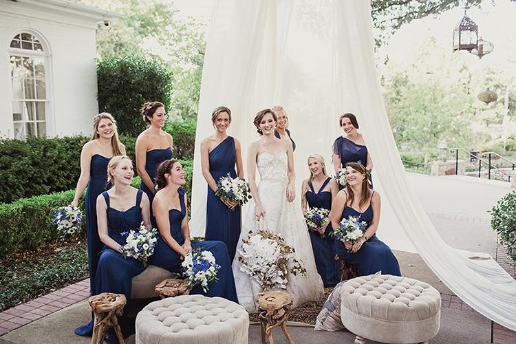 wedding parties - photo by Shaun Menary Photography http://ruffledblog.com/romantic-garden-wedding-at-arlington-hall