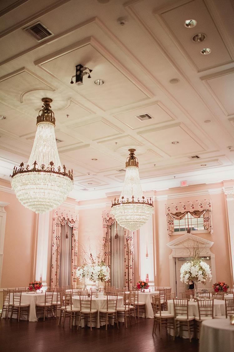 ballroom receptions - photo by Shaun Menary Photography https://ruffledblog.com/romantic-garden-wedding-at-arlington-hall