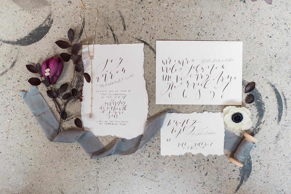 wedding invitations - photo by Holly Von Lanken Photography https://ruffledblog.com/romantic-modern-minimalist-wedding-inspiration - photo by Holly Von Lanken Photography https://ruffledblog.com/romantic-modern-minimalist-wedding-inspiration