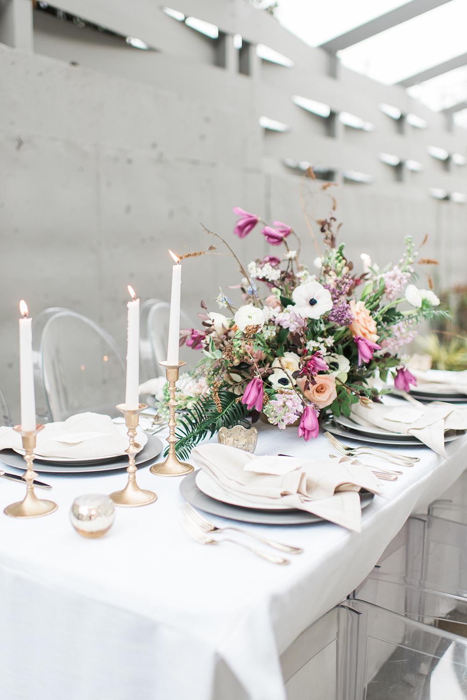 modern industrial romantic weddings - photo by Holly Von Lanken Photography https://ruffledblog.com/romantic-modern-minimalist-wedding-inspiration