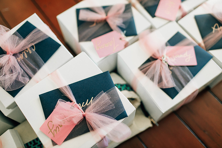 cute bridesmaid gift ideas - http://ruffledblog.com/romantic-pacific-northwest-wedding-with-mauve-and-champagne