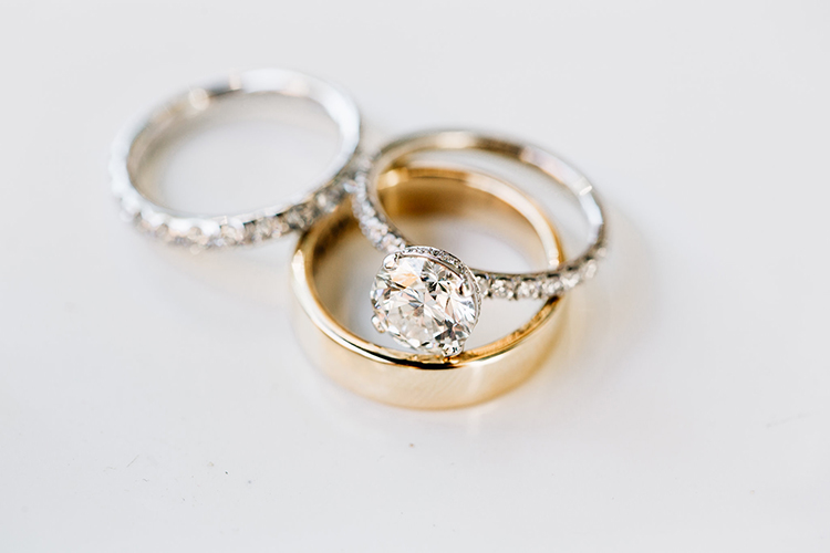 beautiful round engagement rings - https://ruffledblog.com/romantic-pacific-northwest-wedding-with-mauve-and-champagne