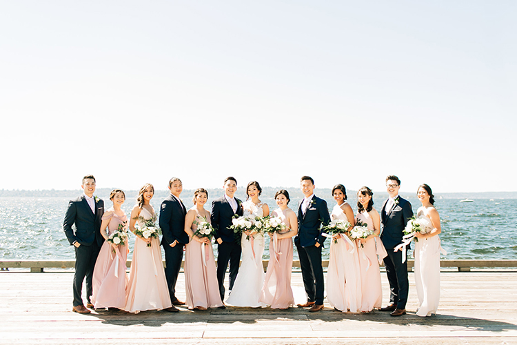 wedding parties - https://ruffledblog.com/romantic-pacific-northwest-wedding-with-mauve-and-champagne