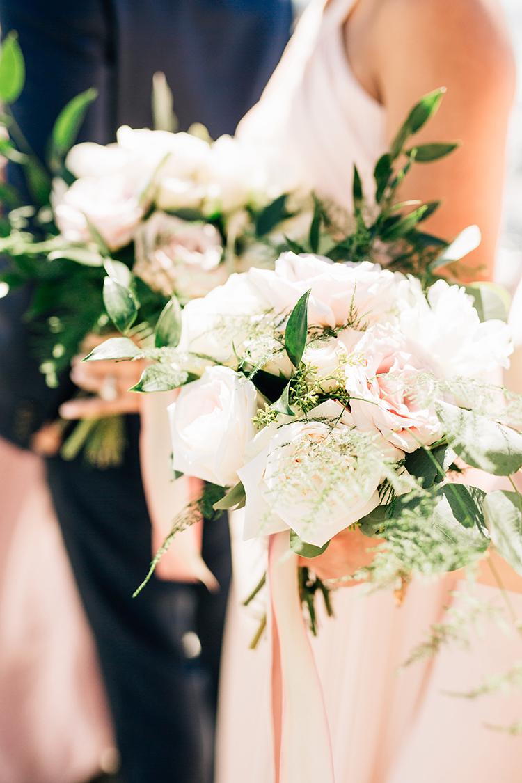 romantic bridesmaid bouquets - https://ruffledblog.com/romantic-pacific-northwest-wedding-with-mauve-and-champagne