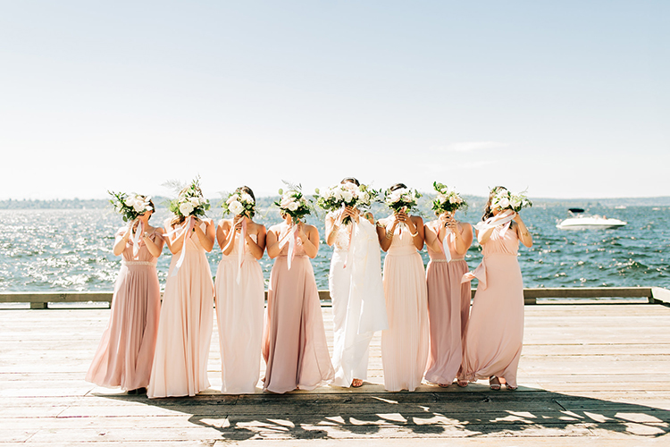 cute bridesmaid portraits - https://ruffledblog.com/romantic-pacific-northwest-wedding-with-mauve-and-champagne
