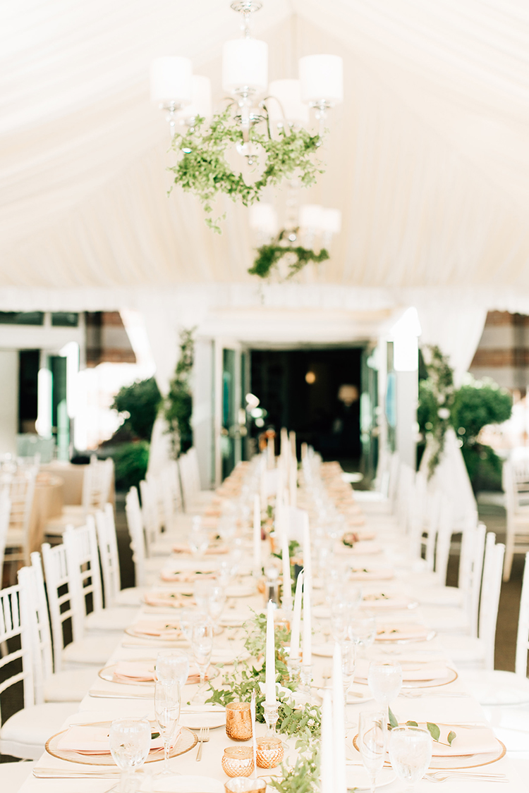 romantic wedding tables - http://ruffledblog.com/romantic-pacific-northwest-wedding-with-mauve-and-champagne