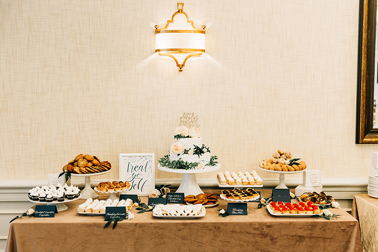 wedding dessert tables - http://ruffledblog.com/romantic-pacific-northwest-wedding-with-mauve-and-champagne