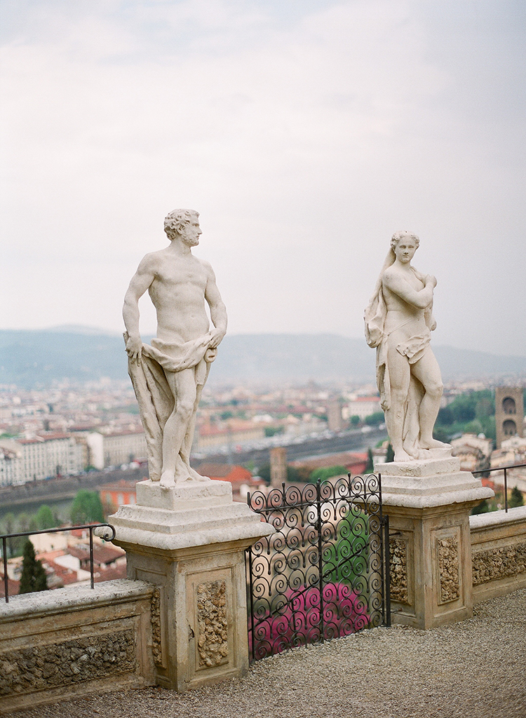 destination weddings in Italy - photo by Jenny Soi Photography http://ruffledblog.com/romantic-rooftop-elopement-inspiration-in-florence