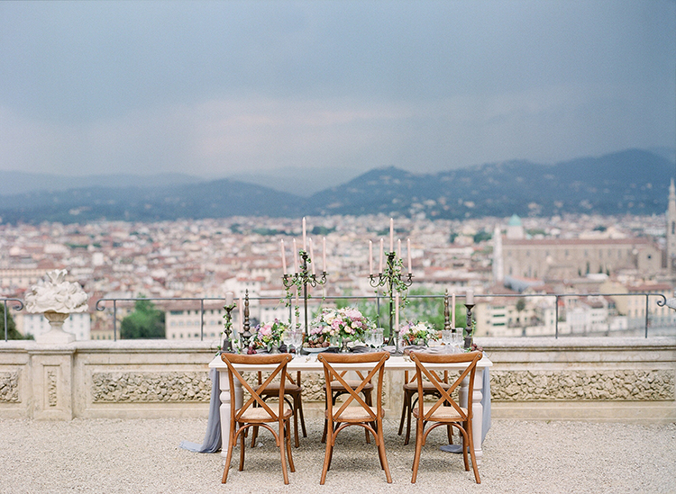 destination wedding inspiration - photo by Jenny Soi Photography https://ruffledblog.com/romantic-rooftop-elopement-inspiration-in-florence