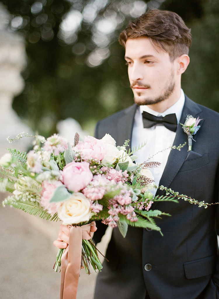 romantic bloom bouquets - photo by Jenny Soi Photography http://ruffledblog.com/romantic-rooftop-elopement-inspiration-in-florence