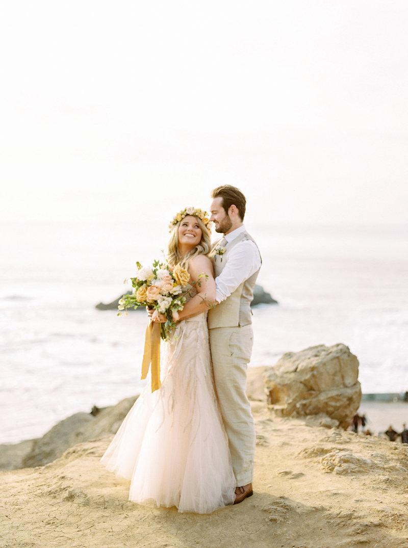 beach weddings - photo by Olivia Richards Photography https://ruffledblog.com/romantic-san-francisco-anniversary-session