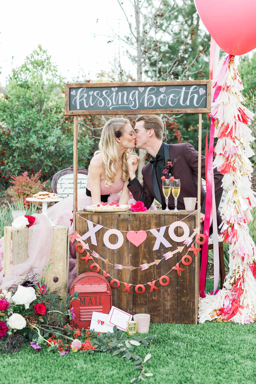 Romantic Wedding Inspiration With A Kissing Booth 183 Ruffled