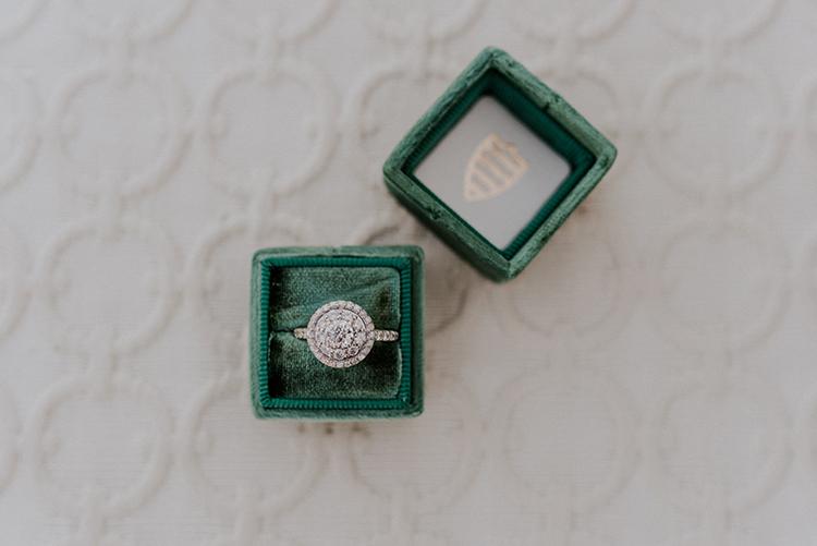 round diamond engagement rings - photo by Shelly Anderson Photography https://ruffledblog.com/san-diego-safari-park-glamping-wedding-editorial