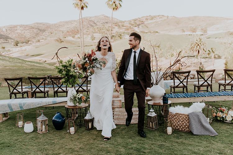 ceremony recessionals - photo by Shelly Anderson Photography https://ruffledblog.com/san-diego-safari-park-glamping-wedding-editorial
