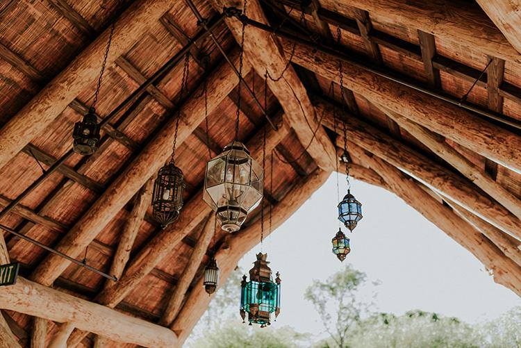 wedding lanterns - photo by Shelly Anderson Photography https://ruffledblog.com/san-diego-safari-park-glamping-wedding-editorial