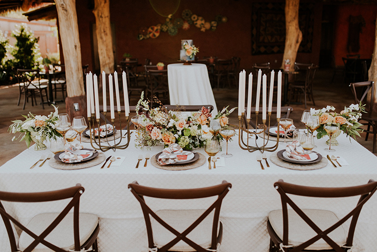 wedding tablescapes - photo by Shelly Anderson Photography http://ruffledblog.com/san-diego-safari-park-glamping-wedding-editorial
